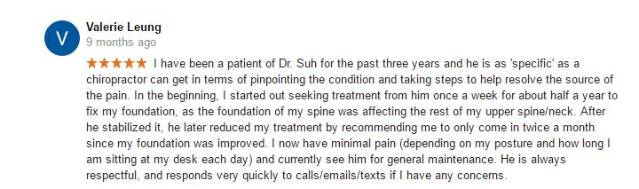 specific, responds very quickly, gonstead chiropractic