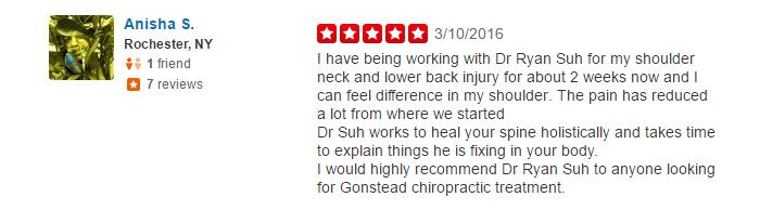 shoulder, neck, lower back injury, gonstead chiropractic